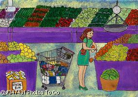 Illustration: Grocery shopping