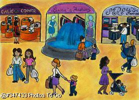 Illustration: In the mall